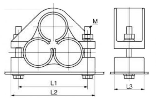 High-Voltage Trefoil Cable Cleat Type A