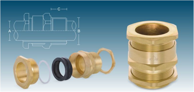 """Brass Cable Glands """"A2"""" Application (1)"""