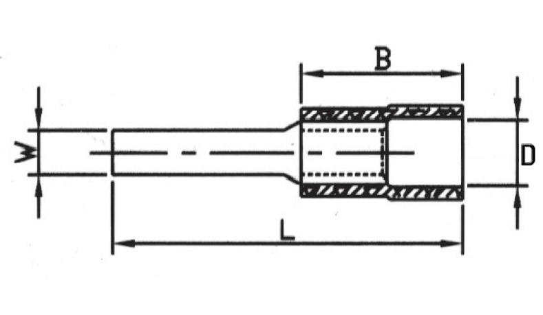 Insulated Blade Terminals (Flat) drawing (1)