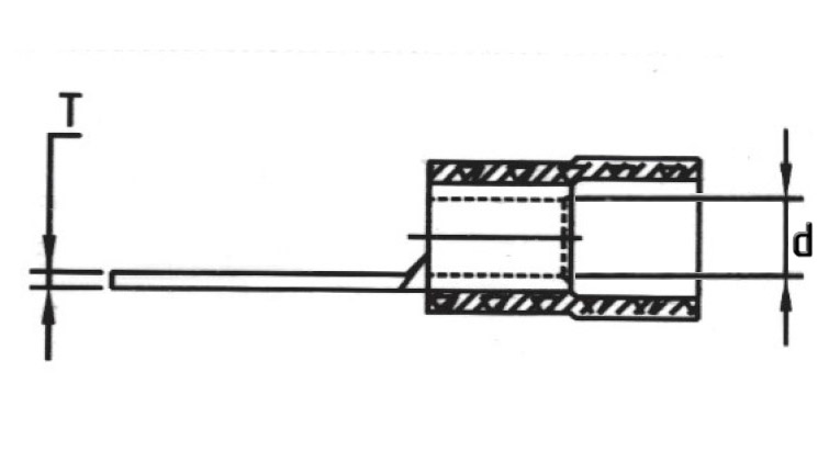 Insulated Blade Terminals (Flat) drawing (2)