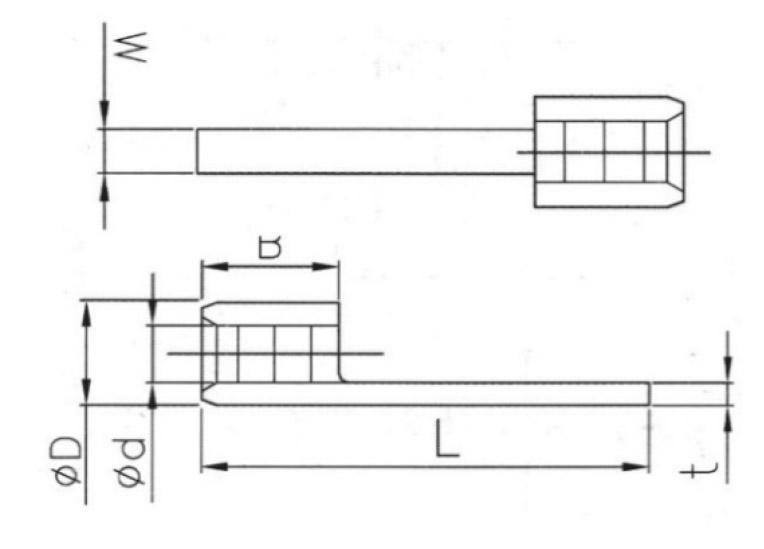 Non-insulated blade terminal (2)