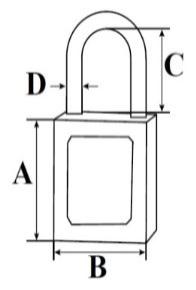 Premier Safety Padlock dimensions(2)